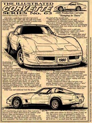 1980 Corvette Illustrated Series No. 63