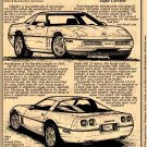 1990 ZR1 Corvette Illustrated Series No. 82