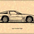 1992 Corvette Coupe Profile