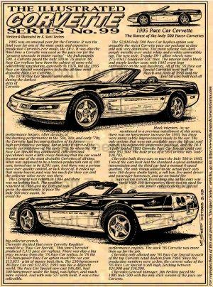 1995 Pace Car Corvette Illustrated Series No. 99