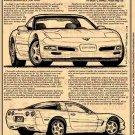 1998 Corvette Illustrated Series No. 105
