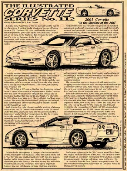 2001 Corvette Illustrated Series No. 112