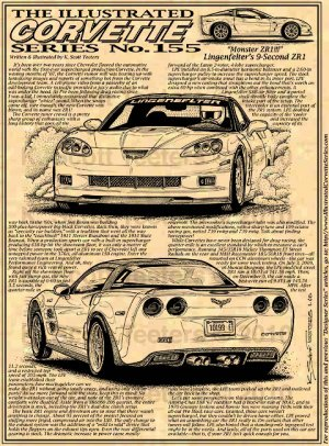 "Lingenfelter's 9-Second ZR1 Corvette ""Monster ZR1!"" Illustrated Series No. 155"