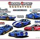 Corvette Grand Sport Montage Laser Color Print