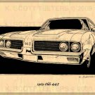 1969 Olds 442 - Print No. OLD-1