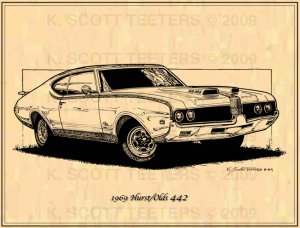 1969 Hurst / Olds 442 - Print No. OLD-3