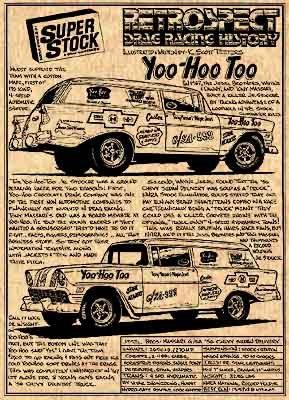 Jesel Brother's Yoo-Hoo-Too '56 Chevy Sedan Delivery : Drag Racing History