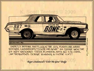 Roger Lindamood's Color Me Gone 1964 Dodge