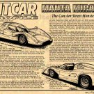 Manta Mirage - The Can AM Street Monster