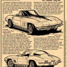 "1967 Corvette ""The Finished Sting Ray"" Illustrated Series No. 29"