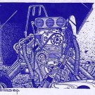 Funny Car Hemi Engine Diazo Print