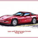 1993 40th Anniversary Corvette Laser Color Print