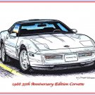 1988 35th Anniversary Corvette Laser Color Print