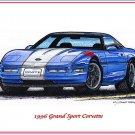 1996 Grand Sport Corvette Laser Color Print