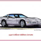 1996 Collector Edition Corvette Laser Color Print
