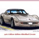 1982 Collector Edition Hatchback Corvette Laser Color Print