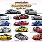 Special Edition 1978-2011 Corvettes Montage Laser Color Print