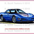 2004 Commemorative Edition Corvette Laser Color Print