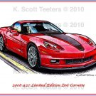 2008 427 Limited Edition Z06 Corvette Laser Color Print