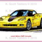 2008 Hertz ZHZ Corvette Laser Color Print