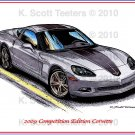 2009 Competition Edition Corvette Laser Color Print