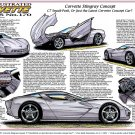 Corvette Stingray Concept Laser Color Print Illustrated Series No. 170