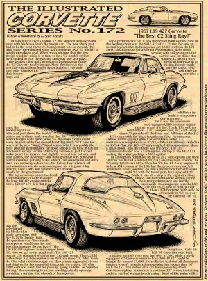 Corvette Stingray  on 1967 L89 Corvette Illustrated Series No  172