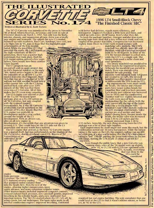 1996 LT4 Corvette Illustrated Series No. 174