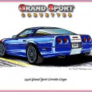 1996 Grand Sport Corvette Laser Color Print