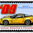 2009 GT-1 Championship Edition Corvette Postage Stamp Art Print