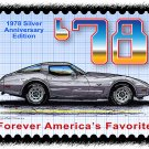 1978 Silver Anniversary Edition Corvette Postage Stamp Art Print