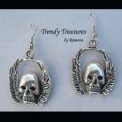 Skull Earrings, Goth, Biker, Original Design, Ramona Beasley