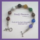 Fruit of the Spirit Artisan Bracelet Gemstones, Galatians 5:22, Trendy Treasures