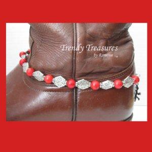 Boot Bracelet,Red Gemstone,Boot Bling Jewelry Cowboy Cowgirl#TrendyTreasuresByRamona