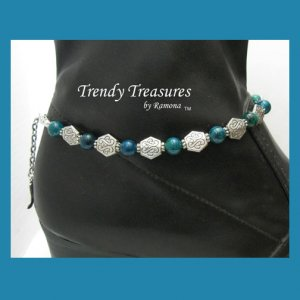 Blue Malachite Gemstone Boot Bling Boot Bracelet Jewelry Cowboy Cowgirl #TrendyTreasuresByRamona