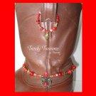 Red Vintage Style Boot Bling,Boot Bracelet & Earrings #TrendyTreasuresByRamona