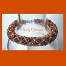 Blue & Orange Denver Broncos Woven Bracelet,Pearls,Crystals,#TrendyTreasuresByRamona