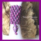 Bright Purple, Dreadlock Sleeve, Dread Bead, Skull Charm Dangle, #TrendyTreasuresByRamona