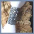 Iridescent Purple & Silver, Dreadlock Sleeve, Dread Bead, #TrendyTreasuresByRamona