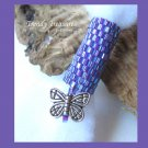 Iridescent Purple, Dreadlock Bead, Dread Sleeve, Butterfly Charm, #TrendyTreasuresByRamona