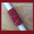 Bright Red, Dreadlock Sleeve, Dread Bead, #TrendyTreasuresByRamona