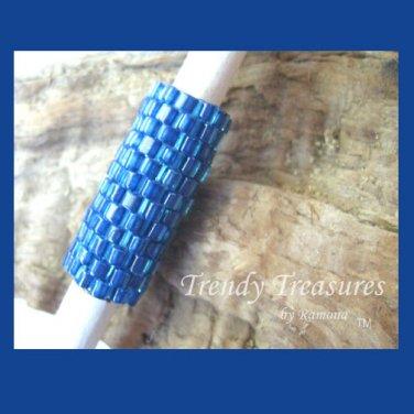 Deep Ocean Blue, Dreadlock Sleeve, Dread Bead,#TrendyTreasuresByRamona