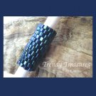 Metallic Navy Blue, Dreadlock Sleeve, Dread Bead, #TrendyTreasuresByRamona