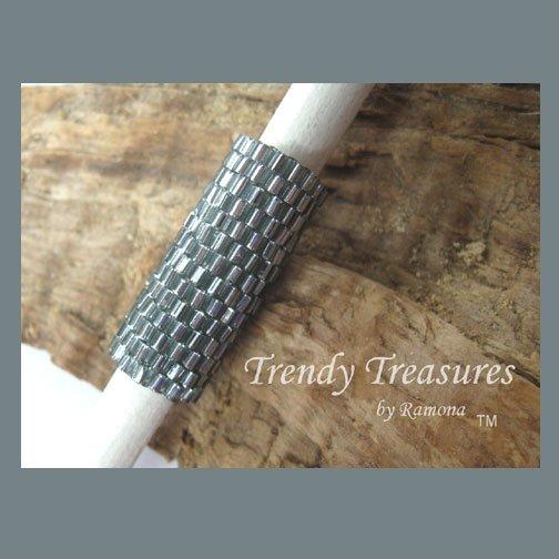 Silver-Lined Gray, Dreadlock Sleeve, Dread Bead, Braid Bead,#TrendyTreasuresByRamona