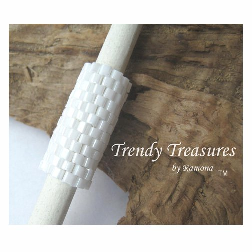 Bright White, Dreadlock Sleeve, Dread Bead, Braid Bead,#TrendyTreasuresByRamona