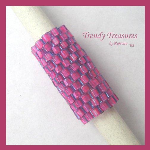Hot Pink, Dreadlock Sleeve, Dread Bead, Braid Bead,#TrendyTreasuresByRamona