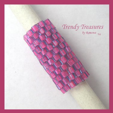 Hot Pink, Dreadlock Sleeve, Dread Bead, Braid Bead,#TrendyTreasuresByRamona