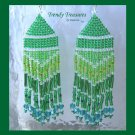 Pantone Color of 2013,Emerald Green, Beaded Dangle Earrings, Hand Woven, #TrendyTreasuresByRamona
