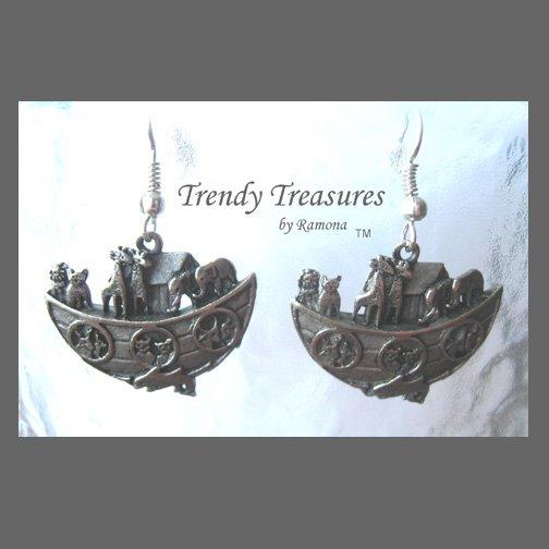Noah's Ark Charm Earrings, Original, Bible Charms,#TrendyTreasuresByRamona,
