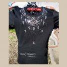 Sparkling Elegant Neckline Bling,Rhinestone Embellished T-shirt, New,Black,#TrendyTreasuresByRamona